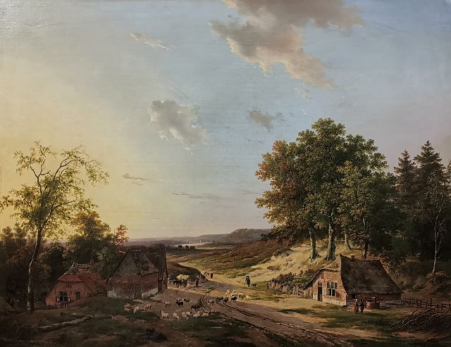 Andreas Schelfhout | -, oil on canvas, 74.8 x 94.3 cm, gesigneerd l.o. and gedateerd 1819