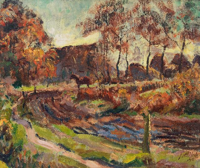 Jan Altink | A farm in Essen, Groningen, oil on canvas, 50.2 x 60.7 cm, signed l.r. and dated '45