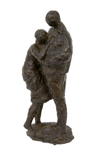 Mari Andriessen | Embracing couple, bronze, 25.0 cm
