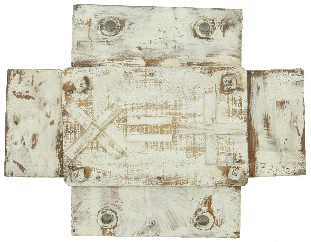 Herbert Zangs | Without title, mixed media on board, 32.0 x 41.0 cm, signed l.r.