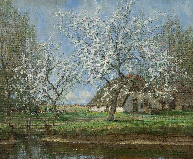 Arnold Marc Gorter | Spring blossom, oil on canvas, 46.3 x 56.3 cm, signed l.r.