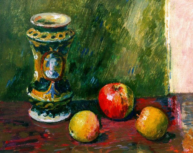 Wiegers J.  | A still life with apples, oil on canvas, 40.5 x 50.5 cm, signed m.r.