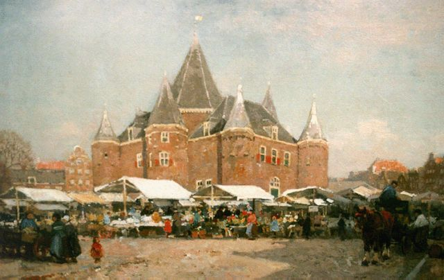 Cornelis Vreedenburgh | A view of the Waag, Amsterdam, oil on canvas, 51.0 x 75.3 cm, signed l.l. and dated 1920