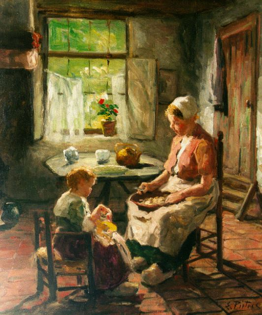 Evert Pieters | Feeding the doll, oil on canvas, 61.0 x 50.8 cm, signed l.r.