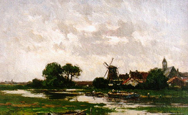 Willem Rip | A polder landscape, oil on canvas, 33.5 x 47.2 cm, signed l.l.