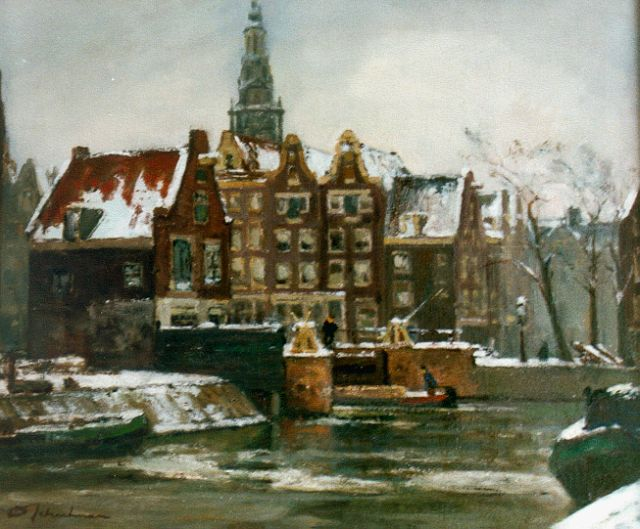 David Schulman | View of the St. Antoniessluis, Amsterdam, oil on canvas, 49.7 x 60.3 cm, signed l.l.
