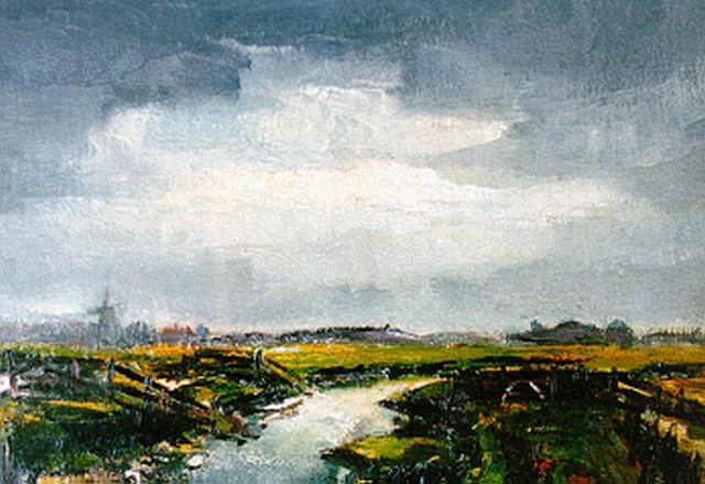 Arnout Colnot | A polder landscape, oil on canvas, 40.0 x 50.2 cm, signed l.r.
