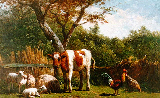 Simon van den Berg | Cattle in a landscape, oil on panel, 21.3 x 30.3 cm, signed l.l.