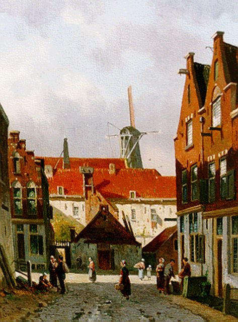 Adrianus Eversen | Townscape, oil on panel, 27.4 x 21.0 cm, signed l.l.