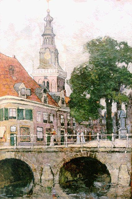 Charles Dankmeijer | A view of Alkmaar, oil on canvas, 60.2 x 40.4 cm, signed l.r.