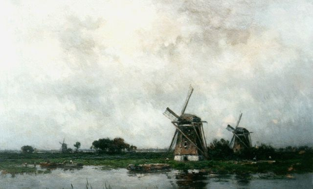 Willem Rip | Windmills in a landscape, Elshout, oil on canvas, 91.2 x 131.2 cm, signed l.r.