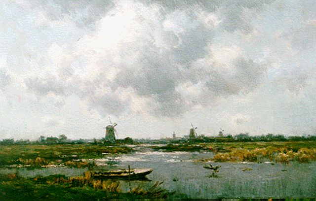 Willem Rip | An extensive river landscape, oil on canvas, 75.1 x 120.0 cm, signed l.l.