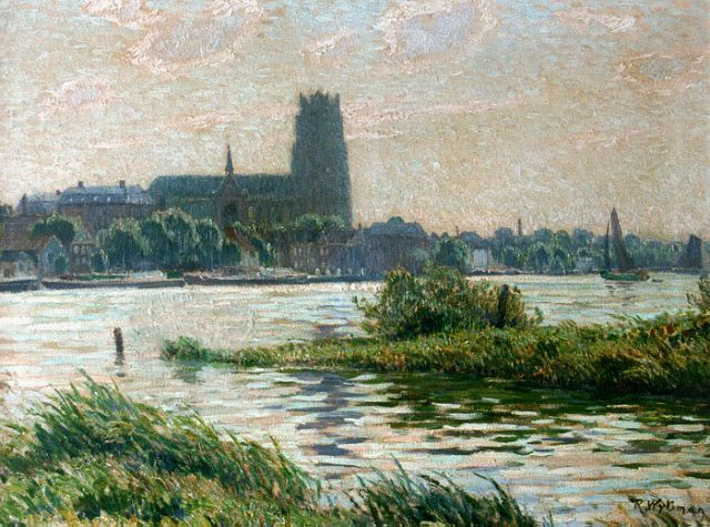 Rodolphe Wytsman | A view of Dordrecht, oil on canvas, 45.5 x 60.0 cm, signed l.r.
