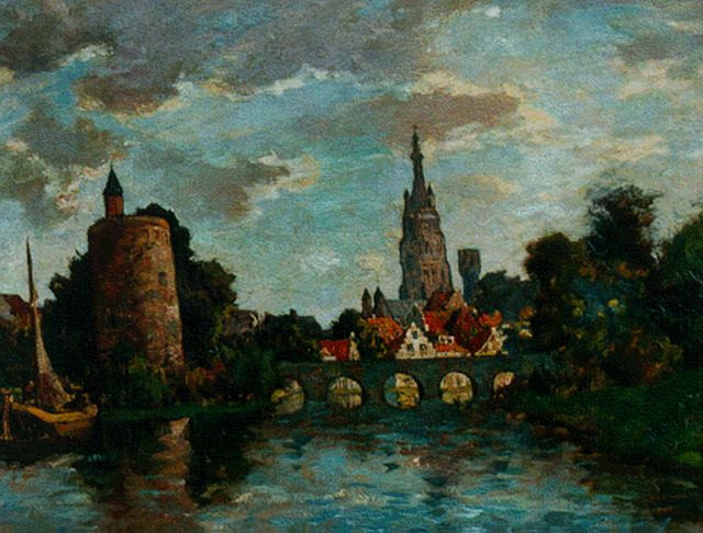 Charles Dankmeijer | A village, oil on canvas, 60.4 x 80.5 cm, signed l.r. and dated 1910