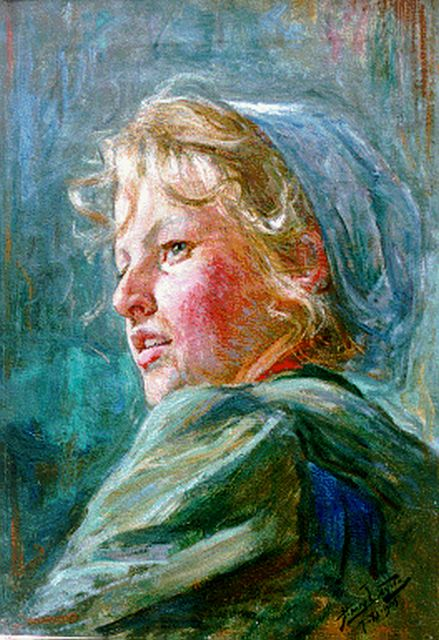 Hendrik Luyten | A girl, oil on canvas, 51.3 x 36.3 cm, signed l.r. and executed on 7-XI-1905