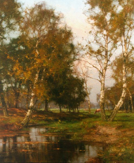 Jan Holtrup | Autumn landscape with the 'Wolfhezer beek', oil on canvas, 70.0 x 60.0 cm, signed l.l.