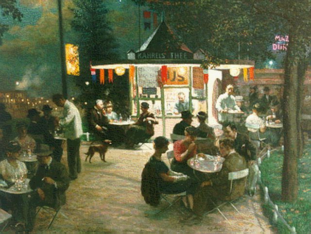 Gerard Johan Staller | Tearoom near the Central Station, Amsterdam (thirties), oil on canvas, 77.0 x 93.0 cm, signed c.r.