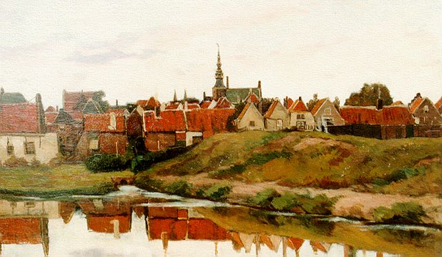 Nicolaas Bastert | A view of Zierikzee, oil on canvas, 62.5 x 100.5 cm, signed l.r.