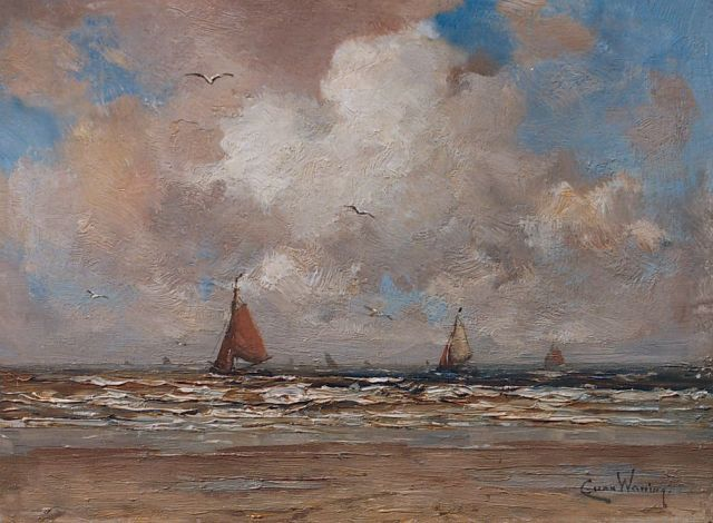 Kees van Waning | Seascape, oil on panel, 20.0 x 25.4 cm, signed l.r.