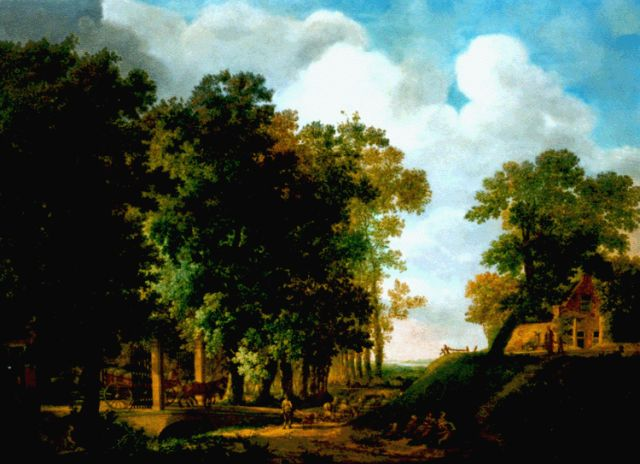 Cornelis Kuipers | A wooded landscape in summer, oil on panel, 49.0 x 67.5 cm, signed l.r. and dated 1788