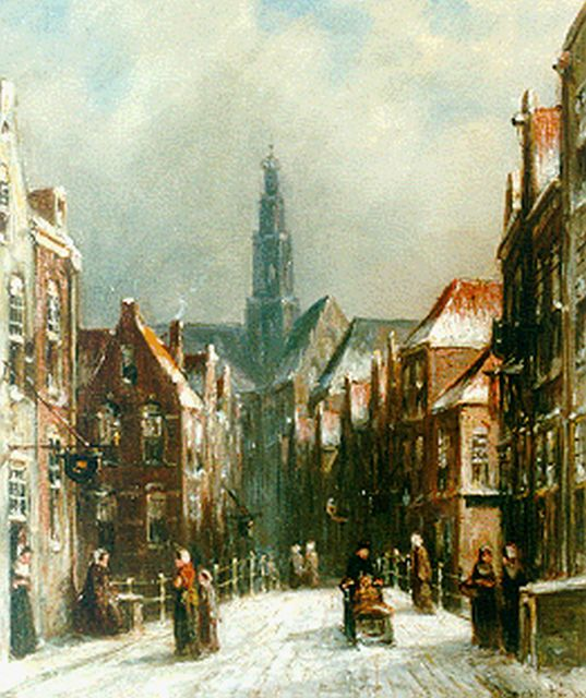 Petrus Gerardus Vertin | A view of Haarlem with the St. Bavo in the distance, oil on panel, 21.2 x 17.7 cm, signed l.r. and dated 1892
