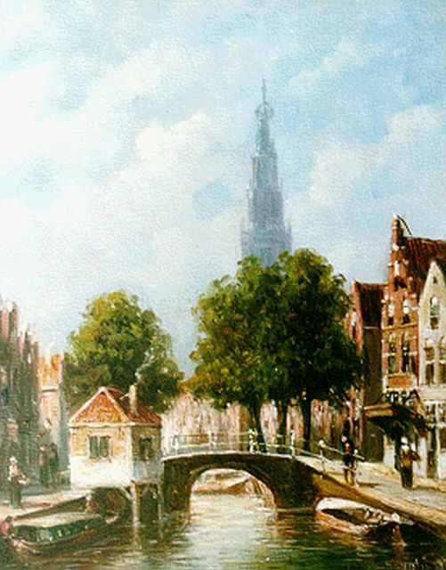 Petrus Gerardus Vertin | A view of Haarlem with the Bakenessekerk beyond, oil on panel, 21.2 x 17.7 cm, signed l.r. and dated '92