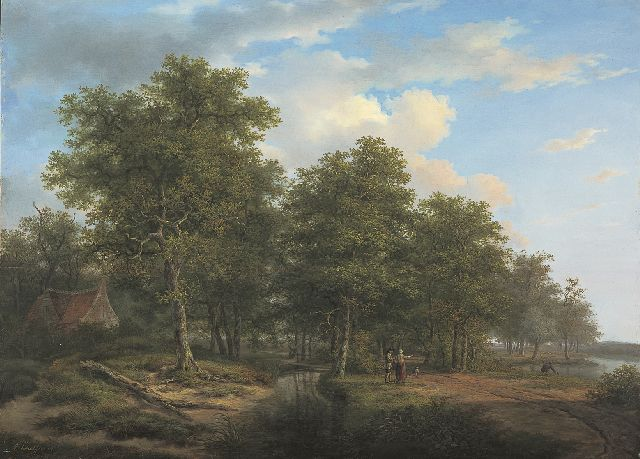 Andreas Schelfhout | A summer landscape, oil on panel, 52.8 x 72.5 cm, signed l.l. and painted circa 1815