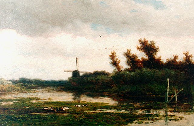 Roelofs W.  | A polder landscape, oil on panel, 21.0 x 34.0 cm, signed l.l.