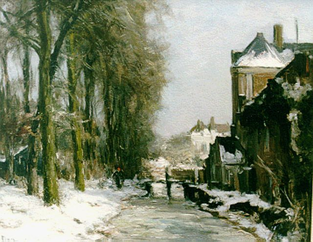 Louis Apol | A village in winter, oil on canvas, 39.2 x 50.2 cm, signed l.l.