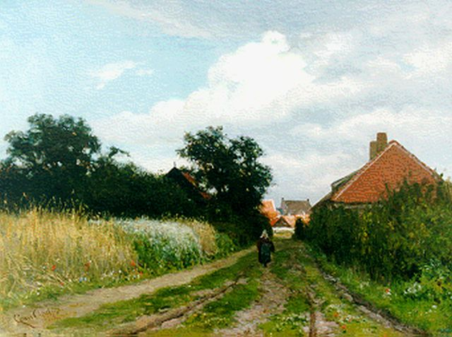 Louis Apol | Country road, Princenhage, oil on canvas, 34.5 x 45.1 cm, signed l.l. and dated '72