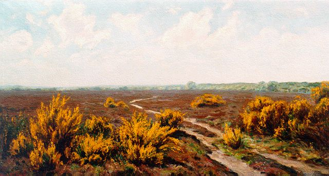 Johan Meijer | A heath landscape, oil on canvas, 44.5 x 84.0 cm, signed l.l.