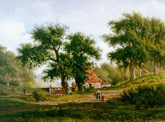 Arnoldus Johannes Eymer | A summer landscape with drainage mill, oil on canvas, 65.4 x 87.8 cm, signed l.l.