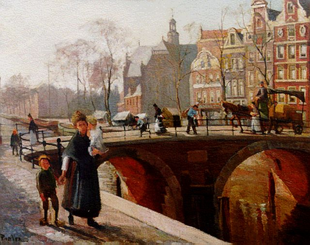 Paul van der Ven | A view of the Prinsengracht, with the Noorderkerk beyond, Amsterdam, oil on canvas, 68.5 x 86.5 cm, signed l.l.