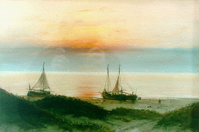 Jan Gerard Smits | Sunset glow, pastel on paper, 31.0 x 44.5 cm, signed l.l. and dated Aug. '69