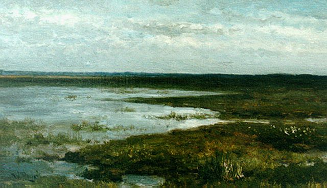 Roelofs W.  | A heath landscape, oil on canvas laid down on panel, 24.1 x 41.1 cm, signed l.l.