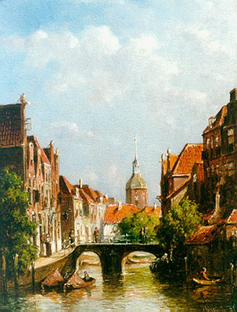 Petrus Gerardus Vertin | A view of Dordrecht, oil on panel, 24.7 x 18.6 cm, signed l.r. and dated 8(?)
