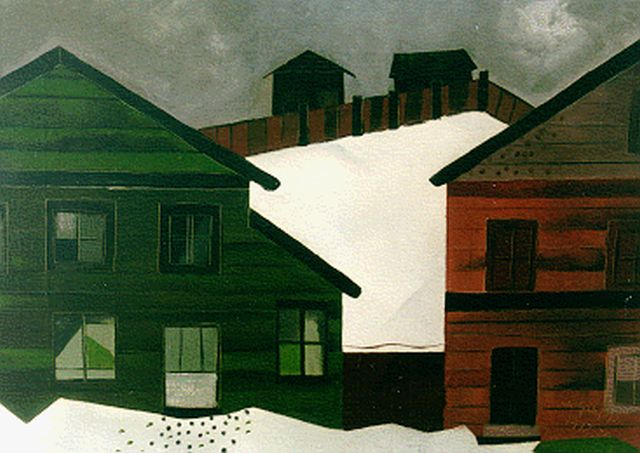 Gaupp K.A.C.  | Snow-covered houses, oil on canvas 50.0 x 70.2 cm, signed l.r. and dated 19/12/39