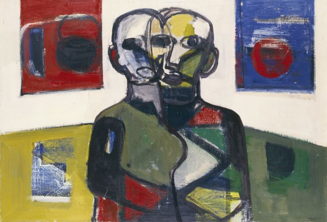 Jan Kagie | Two figures, oil on canvas, 101.7 x 144.9 cm, signed l.r. and dated 1964