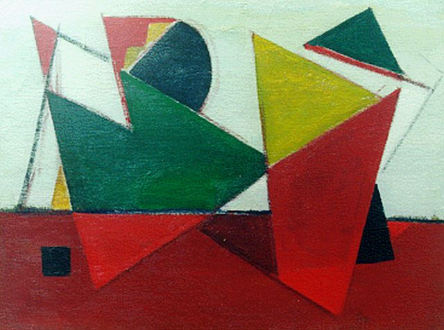 Jan Kagie | Abstract composition, oil on canvas, 58.6 x 78.7 cm, signed l.r.