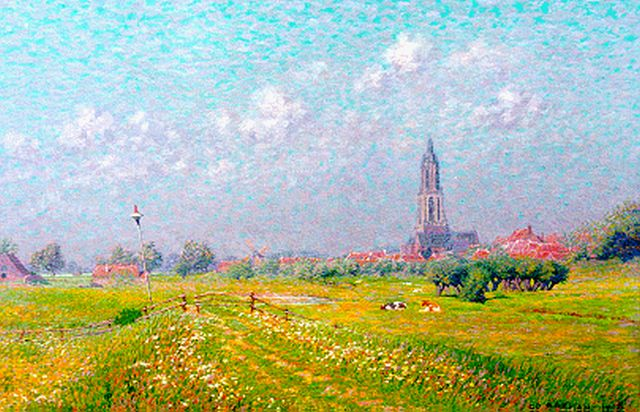 Co Breman | A view of Rhenen, oil on canvas, 46.0 x 70.5 cm, signed l.r. and dated 1908