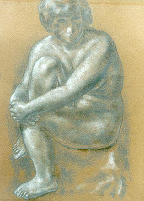 Leo Gestel | A seated nude, pastel on paper, 61.5 x 46.5 cm, signed l.r. and dated '31
