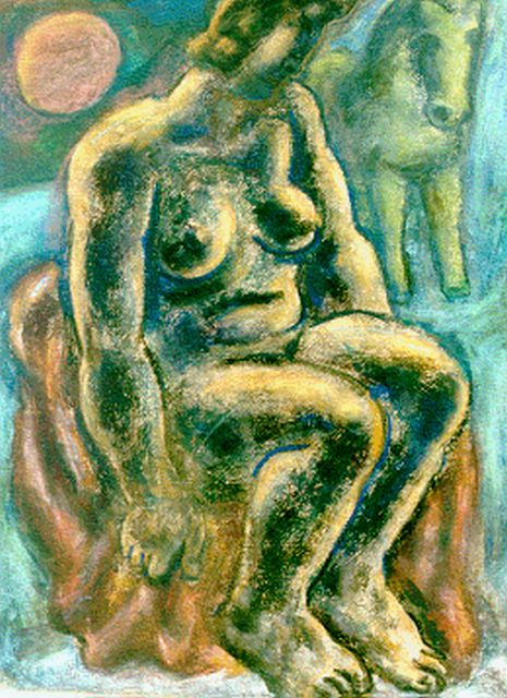 Leo Gestel | A seated nude, pastel on paper, 63.0 x 48.0 cm, signed l.l. and dated '32