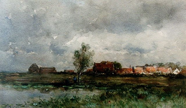 Roelofs W.  | A town view, watercolour on paper, 30.4 x 51.1 cm, signed l.l.
