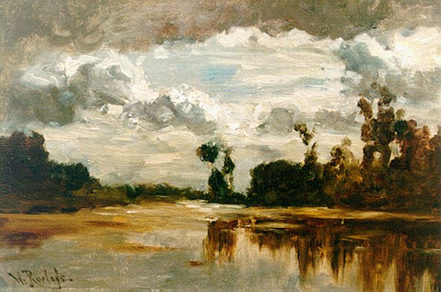 Roelofs W.  | A polder landscape, oil on canvas, 31.0 x 43.5 cm, signed l.l.