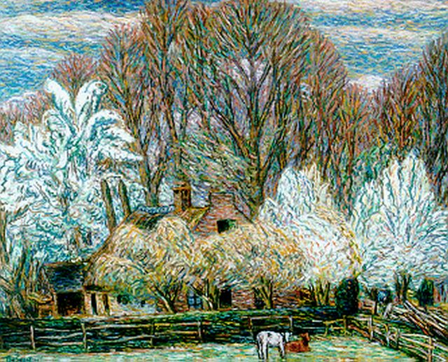 Leo Gestel | A farm in spring, Eemnes, pastel on paper, 61.0 x 76.5 cm, signed l.l. and dated '39