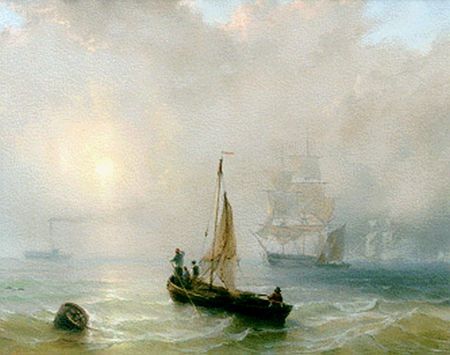 Louis Meijer | Vessels at sea, pastel on paper, 46.0 x 60.5 cm, signed l.l.