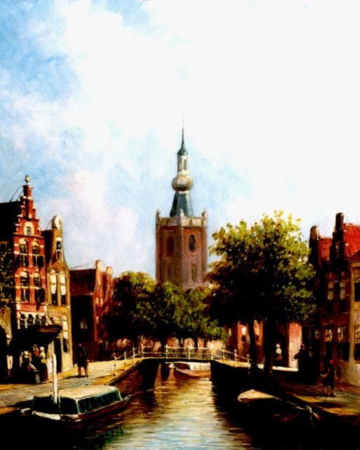 Petrus Gerardus Vertin | View of Overschie, oil on panel, 24.0 x 19.8 cm, signed l.r.