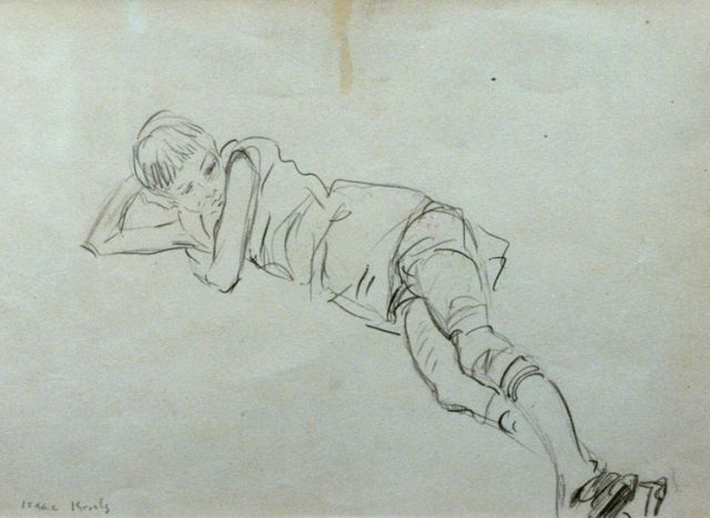 Isaac Israels | A child, pencil on paper, 17.8 x 24.5 cm, signed l.l.