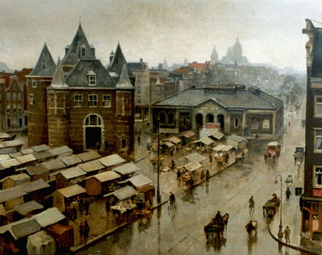 Cornelis Vreedenburgh | A view of the Waag, Amsterdam, oil on canvas, 59.2 x 73.2 cm, signed l.r. and dated 1936