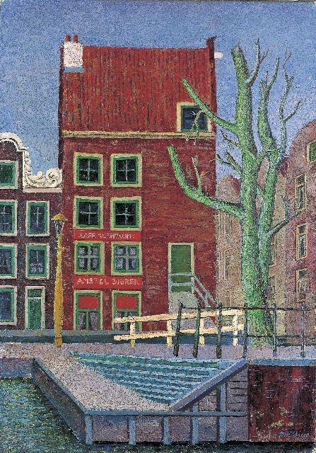 Willy Boers | A canal scene with a red house, oil on canvas, 70.5 x 51.0 cm, signed l.r. and dated 1942